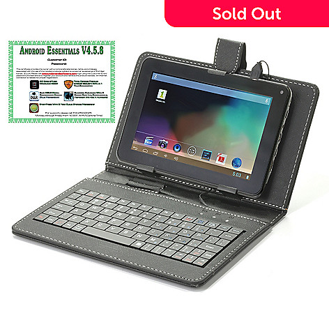 442-053 - Android™ 4.2 7'' or 9'' Bluetooth® 4GB Dual-Core Tablet w/ Keyboard Case & Software