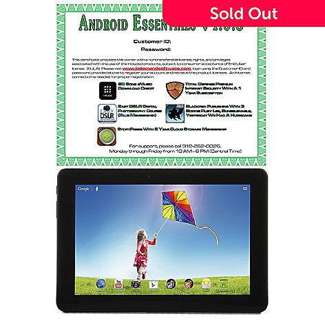442-150 - 10.1'' Android™ 4.1 Google Certified 16GB Quad-Core Bluetooth® Tablet w/ Software