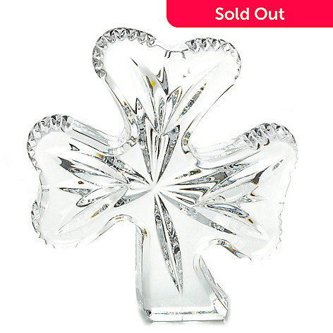 442-268 - Waterford Crystal 5'' Three-Leaf Shamrock
