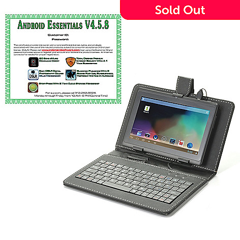 442-277 - Android™ 4.2 7'' LCD 4GB Wi-Fi Tablet w/ Keyboard Case & Software