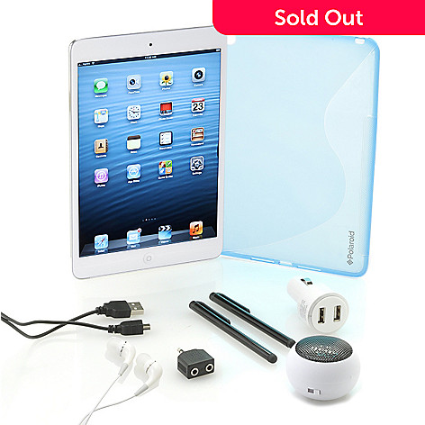 442-330 - Apple® iPad® Mini 16GB Wi-Fi Tablet w/ Online Storage, Softshell Case & Accessories Kit