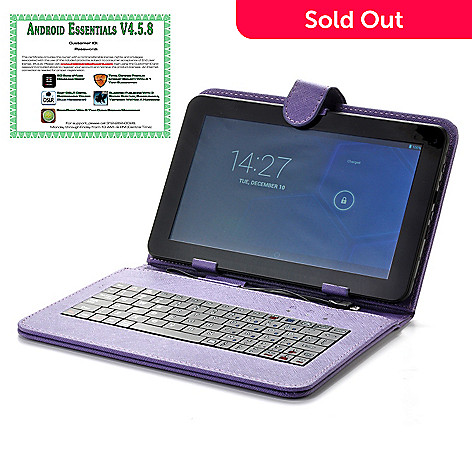 442-345 - 9'' Android® 4.2 4GB Dual-Core Tablet + Keyboard w/ Software & Google Play