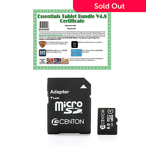 442-377 - MicroSD Card w/ Total Defense Internet Security, Online Storage & Canvas Print