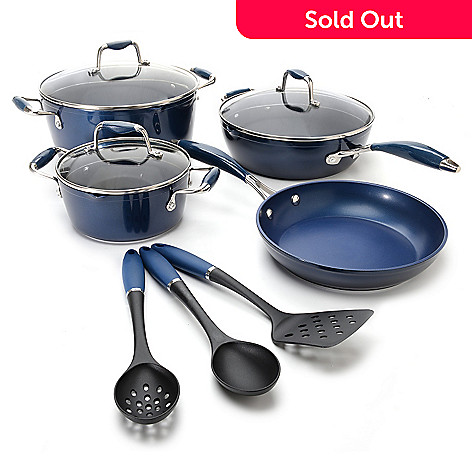 442-497 - Cook's Companion® 10-Piece Color Nonstick Cookware Set
