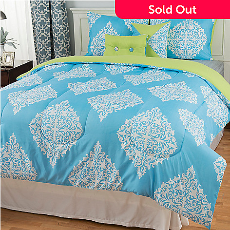 442-892 - North Shore Living™ Microfiber Scrollwork Medallion Five-Piece Comforter Set