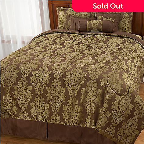 442-959 - North Shore Living™ Medallion Jacquard Seven-Piece Bedding Ensemble