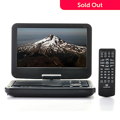 443-022 - Audiovox 10.1'' LCD Portable DVD Player w/ Swivel Screen & USB Port