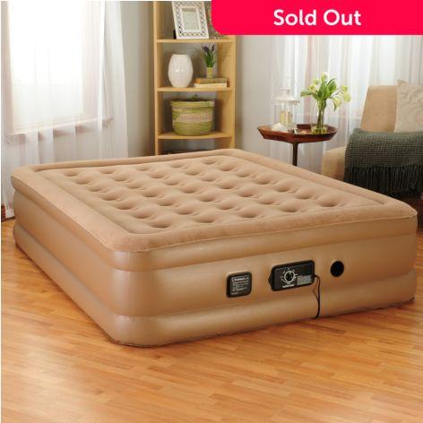 insta-bed raised air mattress w/ built-in neverflat™ dual pump