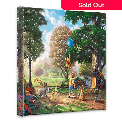 443-500 - Thomas Kinkade ''Winnie the Pooh'' 14'' x 14'' Gallery Wrap