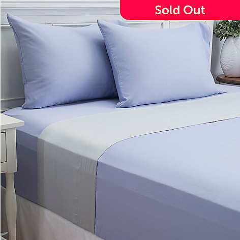 444-089 - Cozelle® 600TC Reversible Cotton / Poly Blend Easy Care Four-Piece Sheet Set