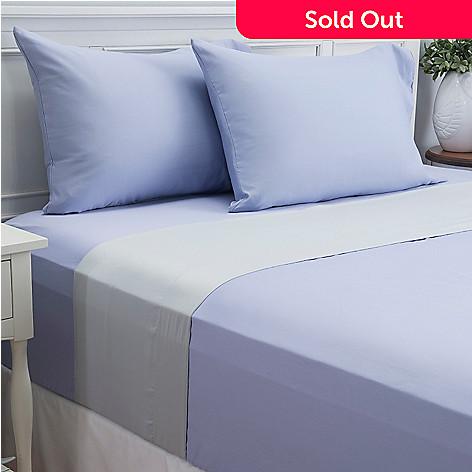 444-089 - Cozelle® 600TC Reversible Cotton / Poly Blend Easy Care Four-Piece Sheet Set