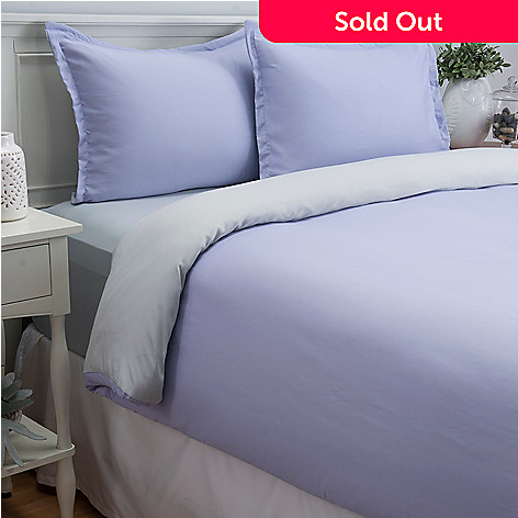 444-091 - Cozelle® 600TC Reversible Cotton / Poly Blend Easy Care Three-Piece Duvet Set