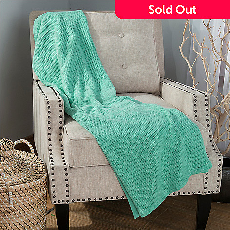 444-182 - Cozelle® 60'' x 50'' 100% Cotton Solid Throw