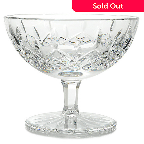 444-215 - Waterford Crystal Lismore 5.25'' Wedge & Diamond Cut Footed Bowl