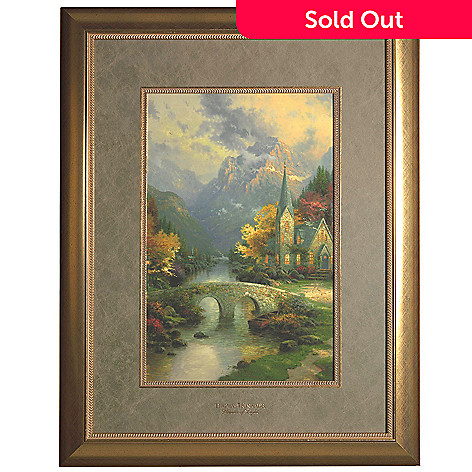 444-229 - Thomas Kinkade ''Mountain Chapel'' Framed Print