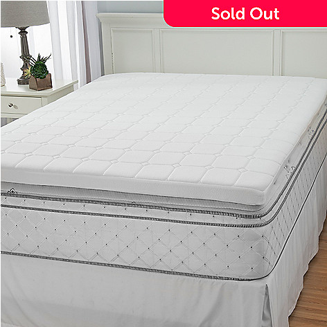 444-487 - North Shore Linens™ 3'' Quilted & Gel Infused Memory Foam Mattress Topper