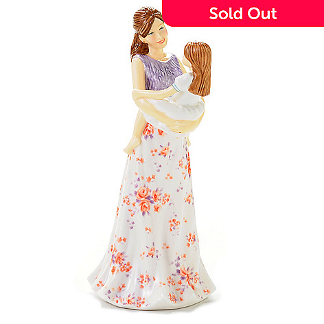 444-510 - Royal Doulton Pretty Ladies ''A Mother's Joy'' 9'' Bone China Figurine - Signed