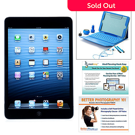444-935 - Apple® iPad® Air 9.7'' Wi-Fi Tablet w/ Accessories, MealEasy & Better Photo Voucher