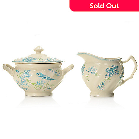 445-185 - Johnson Brothers® Vintage Charm Two-Piece Stoneware Sugar & Creamer Set