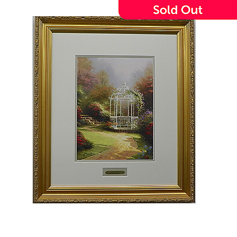 445-269 - Thomas Kinkade ''Lilac Gazebo'' Limited Edition Framed Print