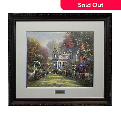 445-270 - Thomas Kinkade ''Victorian Garden'' Limited Edition Framed Print