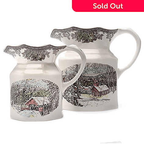 445-321 - Johnson Brothers Friendly Village Two-Piece Earthenware Pitcher Set