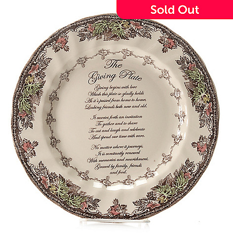 445-325 - Johnson Brothers Friendly Village 10.5'' Earthenware Giving Plate