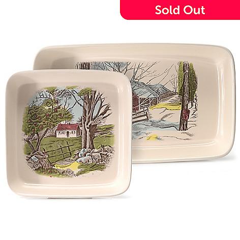 445-326 - Johnson Brothers Friendly Village Two-Piece Earthenware Baker Set