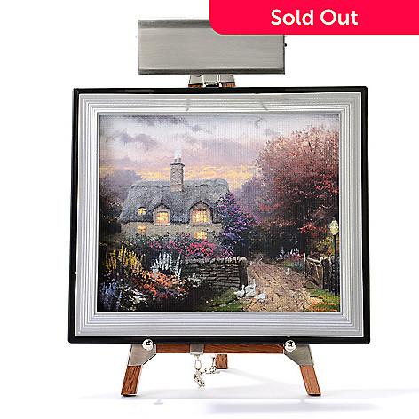 445-413 - Thomas Kinkade Mini Masters® 13-Piece ''Cottage Collection'' Set w/ Easel & Keepsake Box