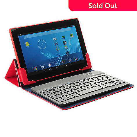 445-443 - D2® 9'' Android™ 4.2 8GB Dual-Core Google Certified Bluetooth® Tablet w/ Keyboard Case