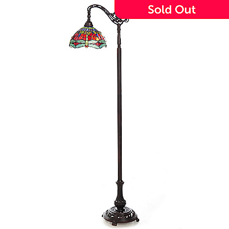 445-714 - Tiffany-Style 69'' Dragonfly Stained Glass Floor Lamp