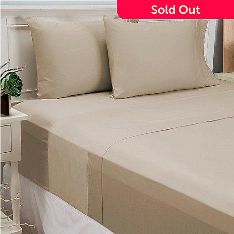 446-143 - North Shore Linens™ 500TC 100% Cotton Four-Piece Sheet Set