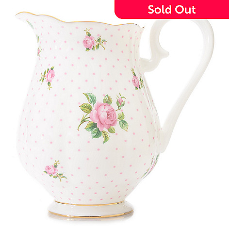 446-888 - Royal Albert New Country Roses 48 oz Bone China 22K Gold Plated Pitcher