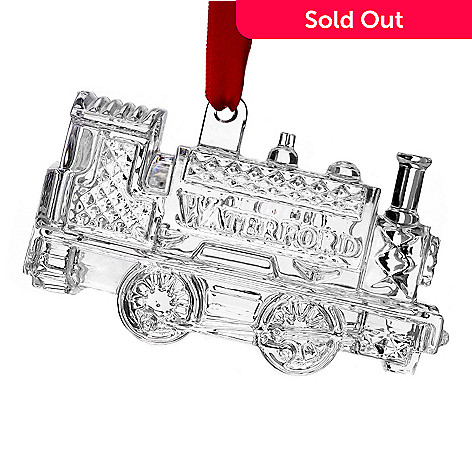 447-330 - Waterford Crystal 3.5'' Diamond Cut Train Ornament