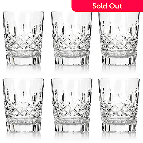 447-446 - Waterford Crystal Lismore Set of 2, 4 or 6 Diamond & Wedge Cut 12 oz Glasses