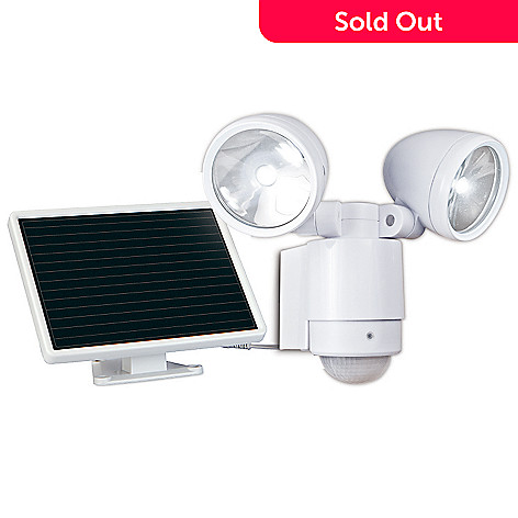 447-860 - MAXSA® Innovations 685 Lumen 12 LED Dual Head Motion Activated Solar Spotlight