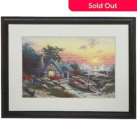 448-319 - Thomas Kinkade Choice of 18'' x 27'' Framed Matte Print -Signed by Thomas Kinkade