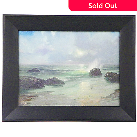 448-384 - Thomas Kinkade ''Pacific Nocturne'' Textured Framed Print