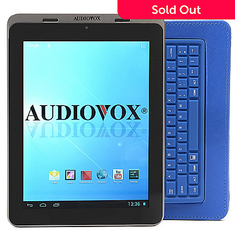 448-942 - Audiovox 8'' Google Certified Android™ 4.1 8GB Bluetooth® Tablet w/ Keyboard Case