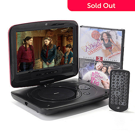449-085 - GPX® Portable 9'' LCD Swivel Screen DVD/CD Player w/ Remote Control & Accessories
