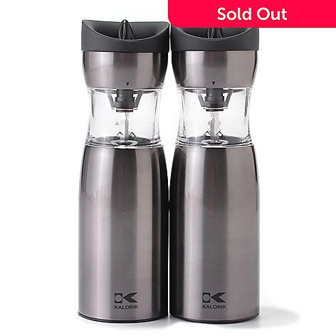 449-086 - Kalorik® Set of Two Gravity-Activated Salt & Pepper Grinders