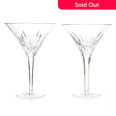 449-285 - Waterford Crystal Lismore Set of Two 12 oz Diamond Cut Tall Martini Glasses