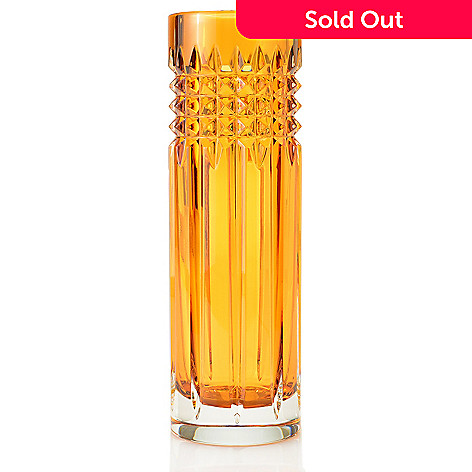 449-286 - Waterford Crystal Tina 9'' Choice of Color Stud Cut Bud Vase