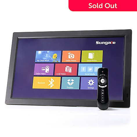 sungale cloud storage wi fi digital photo frame media player