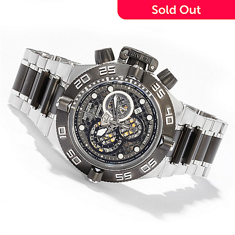 600-079 - Invicta Men's Subaqua Noma IV Swiss Quartz Stainless Steel Bracelet Watch
