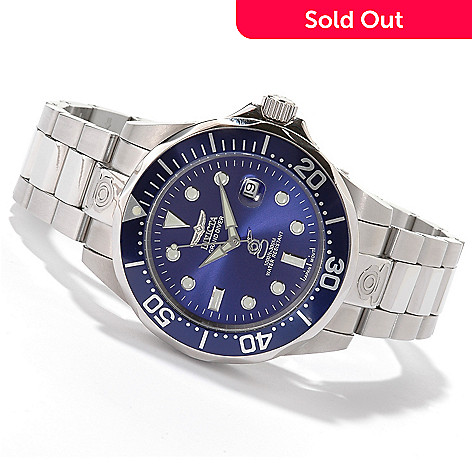 600-190 - ''As Is'' Invicta Men's Stainless Steel Grand Diver Automatic Bracelet Watch