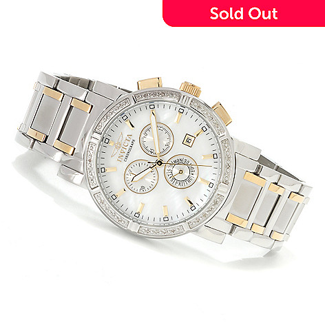 600-655 - Invicta Classic Diamond Accent Chronograph Stainless Steel Watch