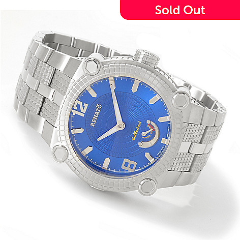 602-569 - Renato Men's Automatic Power Reserve Stainless Steel Watch
