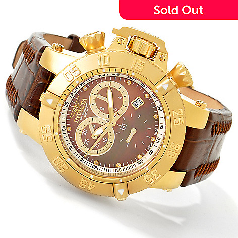 602-607 - Invicta Women's Subaqua Noma III Swiss Chronograph Mother-of-Pearl Strap Watch