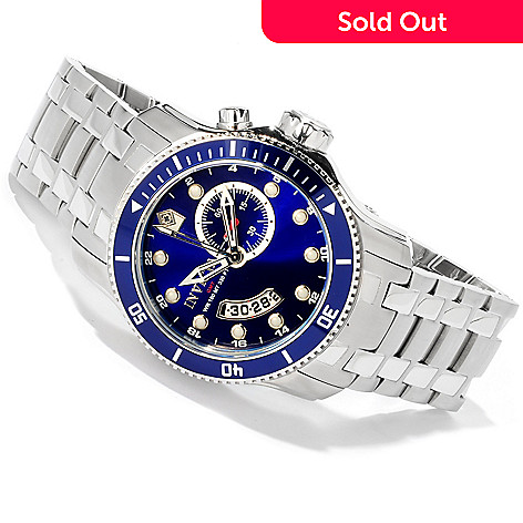 602-881 - Invicta Men's Scuba Pro Diver Quartz GMT Stainless Steel Watch